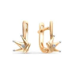 Детские золотые серьги бриллиантами