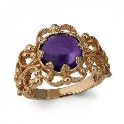 Золотое кольцо Винтаж с аметистом