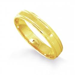 Кольцо обручальное из желтого золота