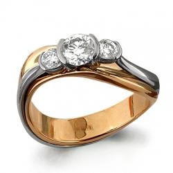 Помолвочное золотое кольцо с Swarovski Zirconia