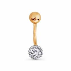 Золотой пирсинг с бриллиантами