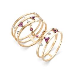 Золотое кольцо с рубинами