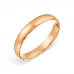 Обручальное золотое кольцо без камней