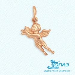 Золотая подвеска Ангел