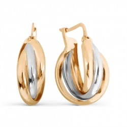 Золотые серьги конго