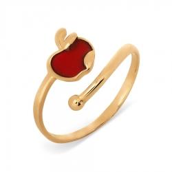 Золотое кольцо Яблоко с эмалью