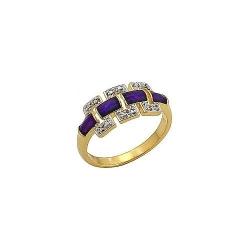 Кольцо с золотым покрытием без вставки