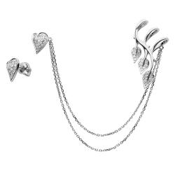 Серьги из белого золота (Бриллиант)