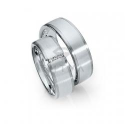Золотые парные обручальные кольца (ширина 7 мм.) (цена за пару)