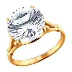 Золотое кольцо c горнамий хрусталь SOKOLOV