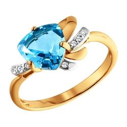 Золотое кольцо c топазами SOKOLOV