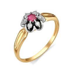 Золотое кольцо (Рубин, Бриллиант)