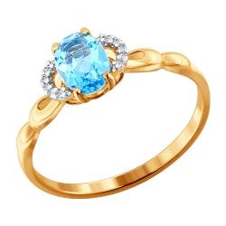 Кольцо из золота с топазами SOKOLOV