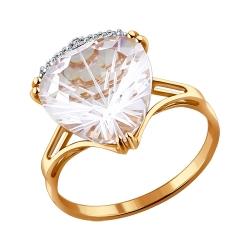 Кольцо из золота с хрусталем SOKOLOV