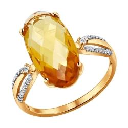 Кольцо из золота с цитринами SOKOLOV