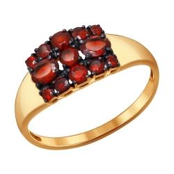 Кольцо из золота с гранатами SOKOLOV