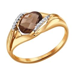 Кольцо из золота с раух-топазом SOKOLOV