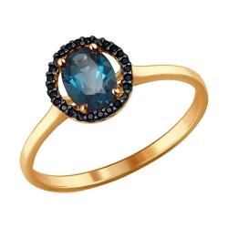 Золотое кольцо с топазами SOKOLOV
