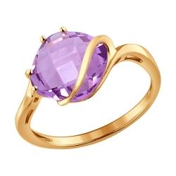 Золотое кольцо с аметистами SOKOLOV
