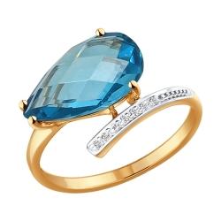 Золотое кольцо с ситаллом SOKOLOV
