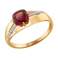 Золотое кольцо с гранатами SOKOLOV