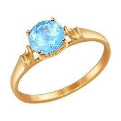 Золотое кольцо (Топаз) SOKOLOV