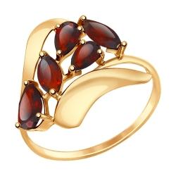 Золотое кольцо (Гранат) SOKOLOV