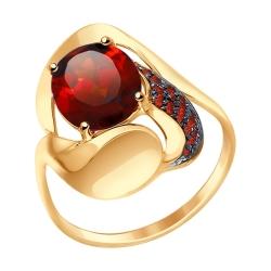 Золотое кольцо (Ситалл, Фианит) SOKOLOV