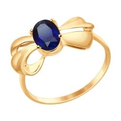 Золотое кольцо Бантики (Сапфир ГТ) SOKOLOV