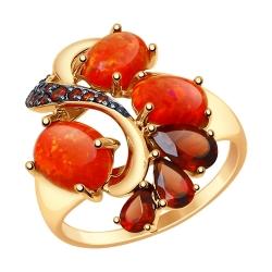 Золотое кольцо с миксом камней SOKOLOV CRUISE