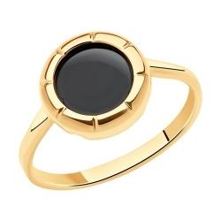 Кольцо из золота с агатами