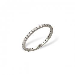 Кольцо из белого золота 585 пробы с фианитами