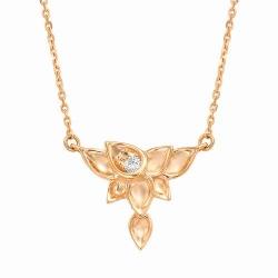 Золотое колье в виде цветка (Бриллиант)