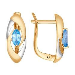 Золотые серьги (Топаз) SOKOLOV