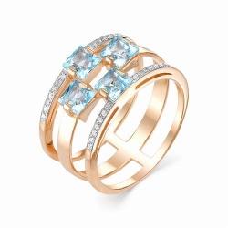 Золотое кольцо (Топаз, Бриллиант)