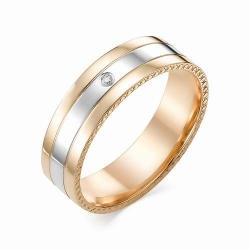 Золотое обручальное кольцо (Бриллиант)