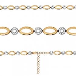 Золотой браслет Геометрия с фианитами