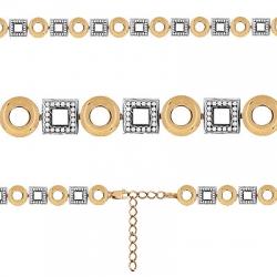 Золотой браслет Геометрия с фианитом