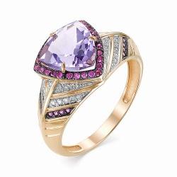 Золотое кольцо (Аметист, Рубин, Бриллиант)