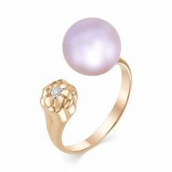 Золотое кольцо (Жемчуг, Бриллиант)