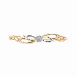 Золотая брошь Роза с бриллиантом