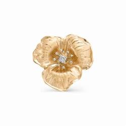 Золотая подвеска в виде цветка (Бриллиант)