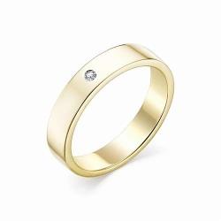 Обручальное кольцо из желтого золота (Бриллиант)