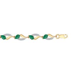 Золотой браслет (Фианит, Агат) SOKOLOV