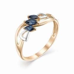 Женское золотое кольцо (Сапфир)