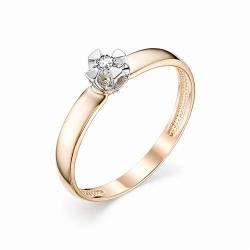 Женское золотое кольцо (Бриллиант)