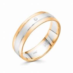 Обручальное золотое кольцо (Бриллиант)