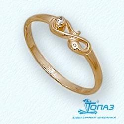 Детское золотое кольцо с фианитом