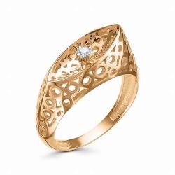Женское золотое кольцо Ажур (Бриллиант)