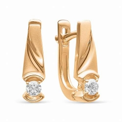 Золотые серьги (Бриллиант)